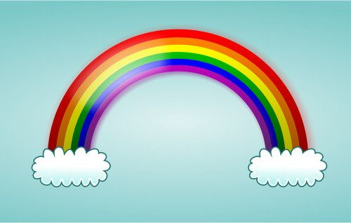 Nice cartoon rainbow with various colors and great effects!