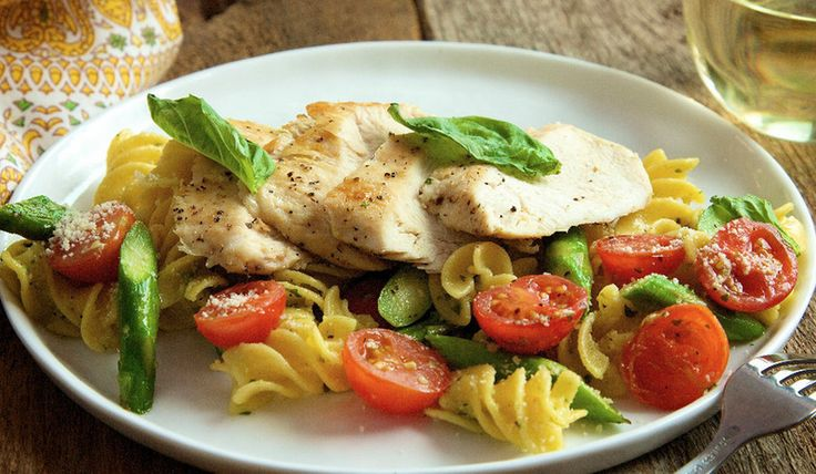 Chicken and Quinoa Pasta with Pesto by The Bikini Chef . Health is wealth, my friends. http://www.chefd.com/collections/all/products/chicken-and-quinoa-pasta