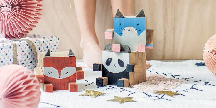Fabriquer Des Cubes En Bois En Forme D Animaux Cube En Bois Cadeaux En Bois