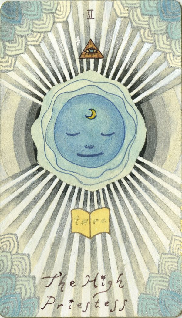 Astro-Tarot Cards by Sang Eun Dawn Lee, via Behance high priestess