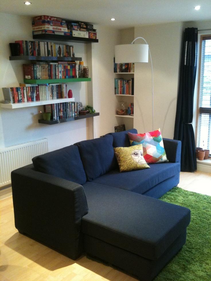 The Newark Corner Sofa and Arche Floor Lamp in Jess's home.