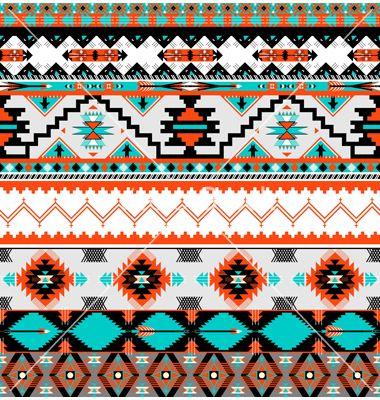 Seamless navaho pattern vector art - Download Aztec vectors