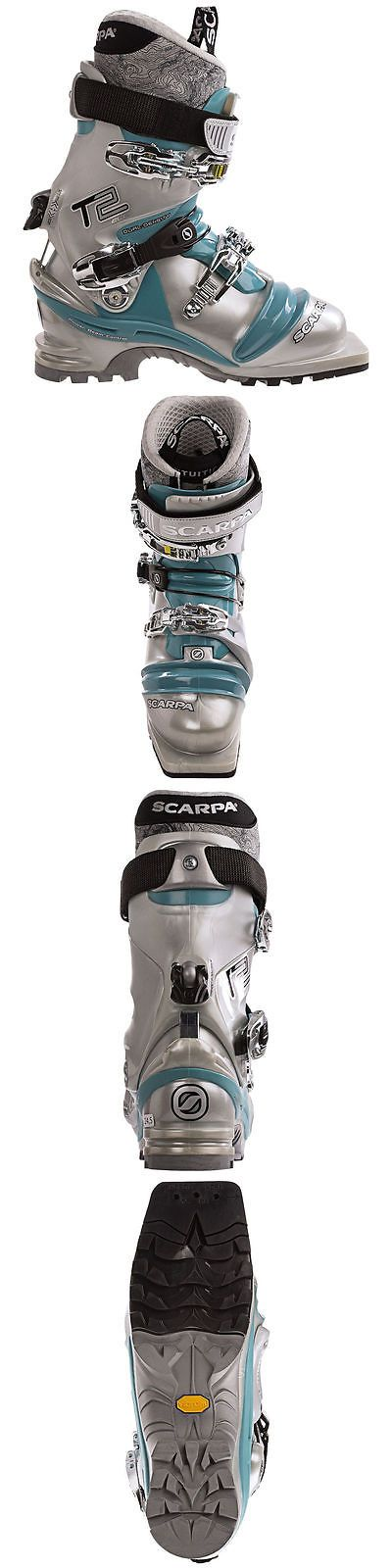 Telemarking 62214: Scarpa Women S T2 Eco Ski Boots Blue 23 -> BUY IT NOW ONLY: $199.98 on eBay!