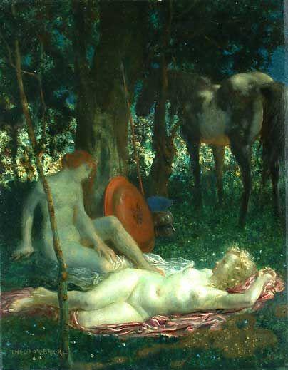 """Ruhende Amazonen"", Resting Amazons,    Theodor Baierl (1881–-1932):"