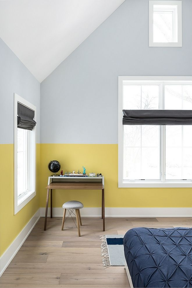 Two Toned Walls Two Toned Bedroom Wall Paint Colors Bottom Part Is Painted In Benjamin Moore Bedroom Wall Paint Colors Bedroom Wall Paint Bedroom Paint Colors #two #toned #living #room #walls