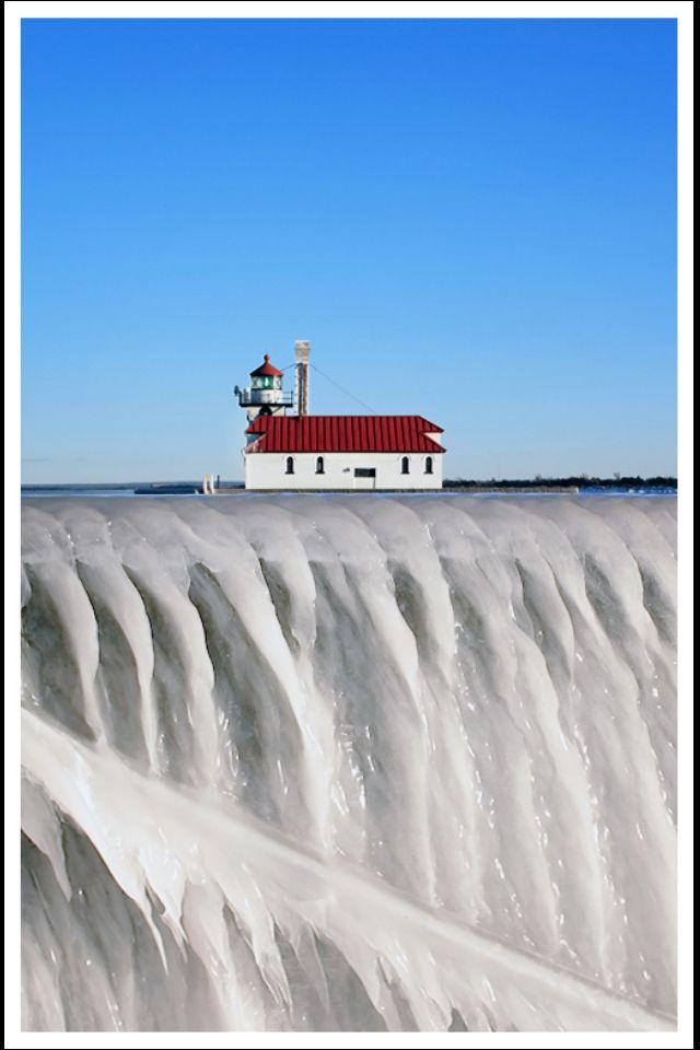 Duluth, Lighthouse on Ice,Minnesota- by duluthdesigned