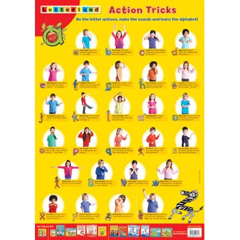 Action Tricks Poster Do The Actions Make The Letter
