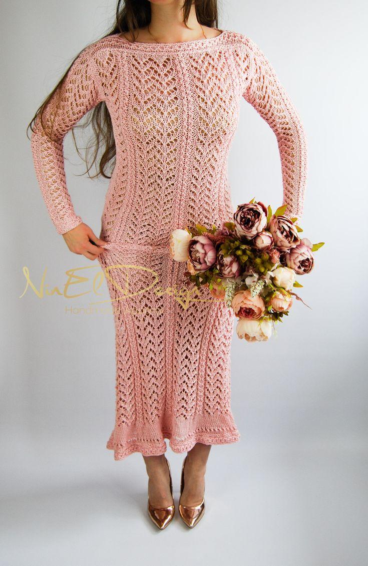 KNIT Maxi Dress.Long sleeve dress.Crochet maxi dress.Crochet dress.Long crochet dress.Long knit dress.Bohemian clothing.Crochet boho dress by NinElDesign on Etsy