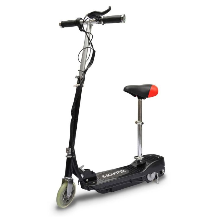 Kids Collapsible Electric Scooter w Seat 120W Black | Buy Motorised Scooters