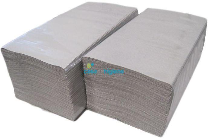 Toalhas das mãos papel reciclado 23x24 cm. Caixa de 3000 folhas.