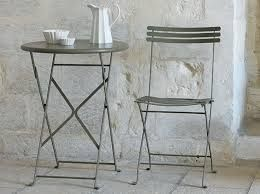 ethimo flower Klappbarer Gartentisch und Stuhl