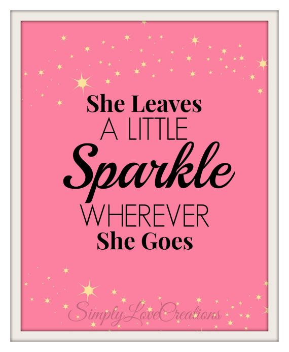 She Leaves A Little Sparkle Wherever She Goes - Nursery ...