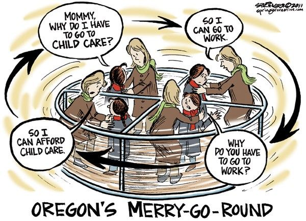 Being a single parent in the work force is like riding a merry go round