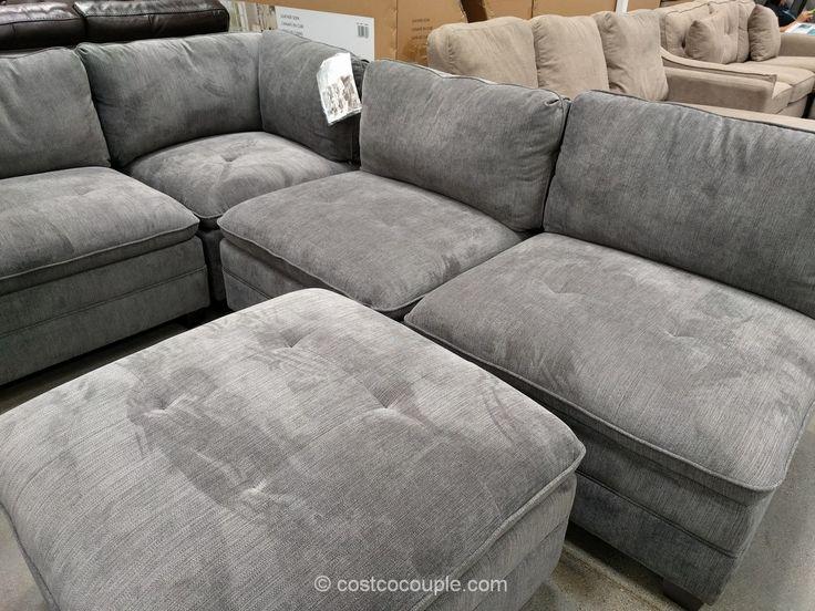 6-Piece Modular Fabric Sectional Costco | Fabric sectional ...