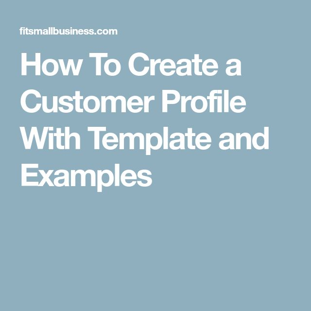 Best 25+ Customer profile example ideas on Pinterest Personas - customer profile