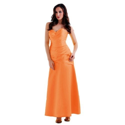 Orange Sunvary 2013 New Arrival Sweetheart Neckline A-line Long Taffeta Party Dresses Bridesmaid Dresses  Orange Dress #2dayslook #watsonlucy723  #OrangeDress  www.2dayslook.com