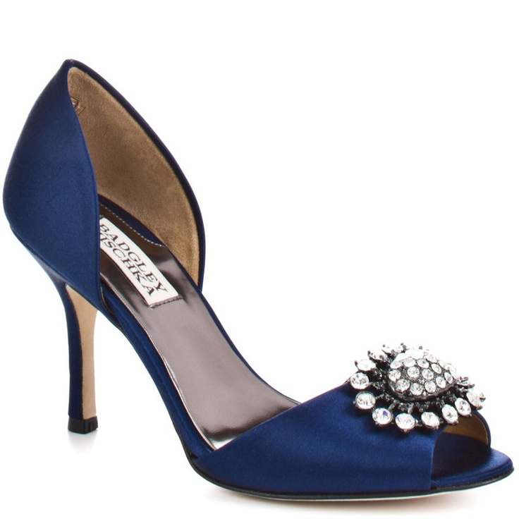 Lacie Satin: Mischka Lacy, Lacy Satin, Style, Wedding Shoes, Navy Satin, Something Blue, Heels, Badgley Mischka, Satin Dorsay