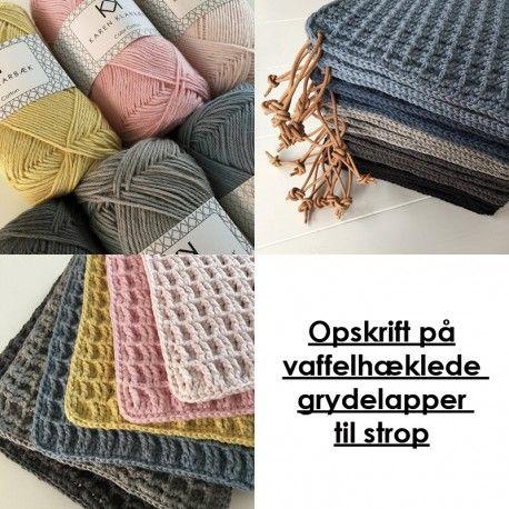 Vaffelhæklet grydelap - Karen Klarbæk