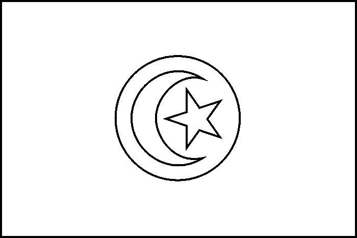 Drapreau : Drapeau du Tunisie à colorier : 0