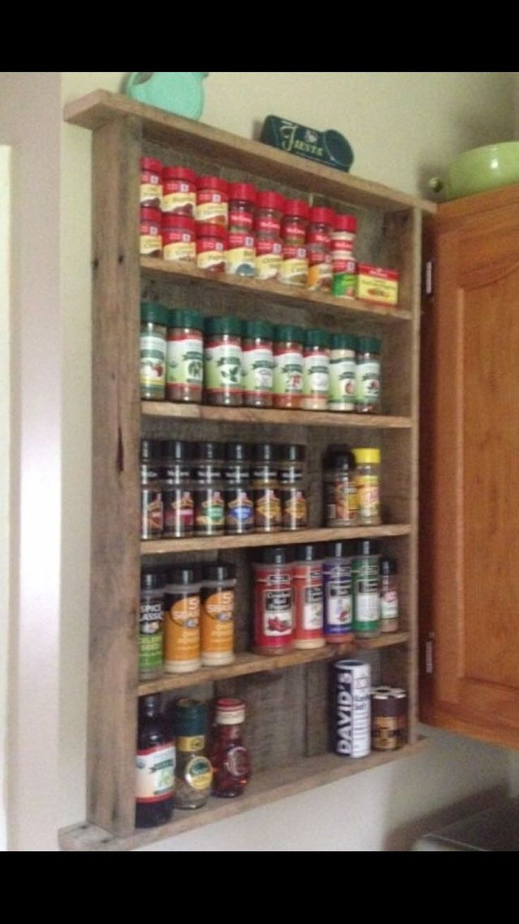 25 Best Ideas About Pallet Spice Rack On Pinterest