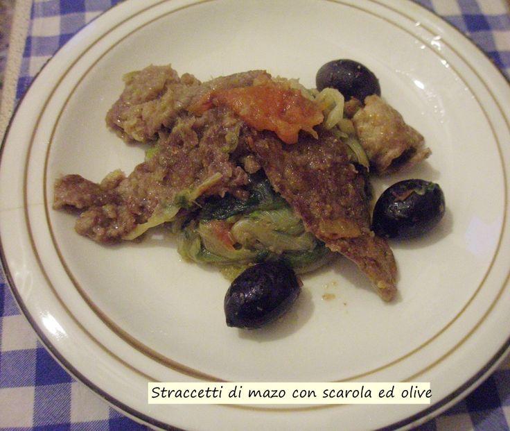 Straccetti+di+manzo+con+scarola+ed+olive+gluten+free