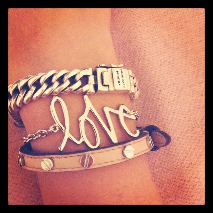 Armcandy ; buddhatobuddha, 'love' bracelet & B'Loved