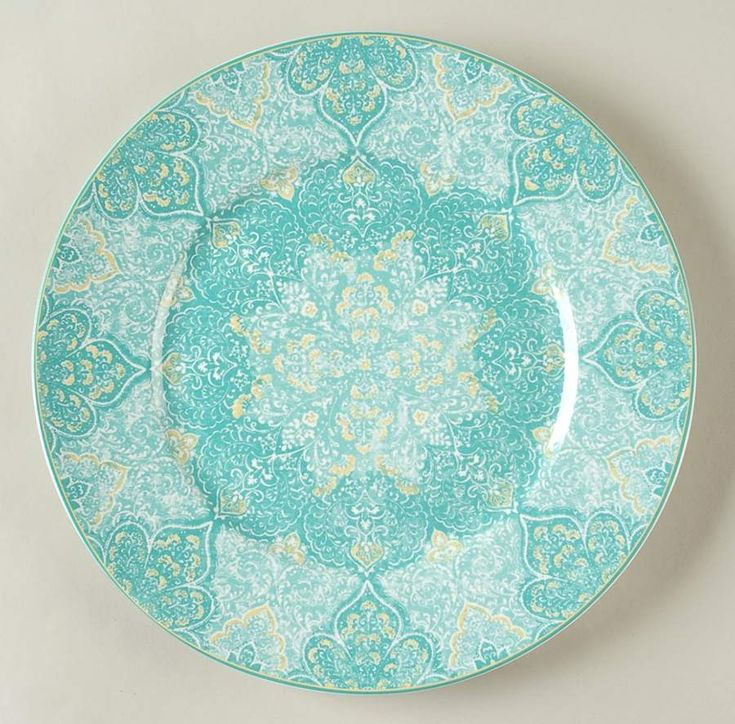 Eva Teal Dinner Plate by 222 Fifth (PTS)