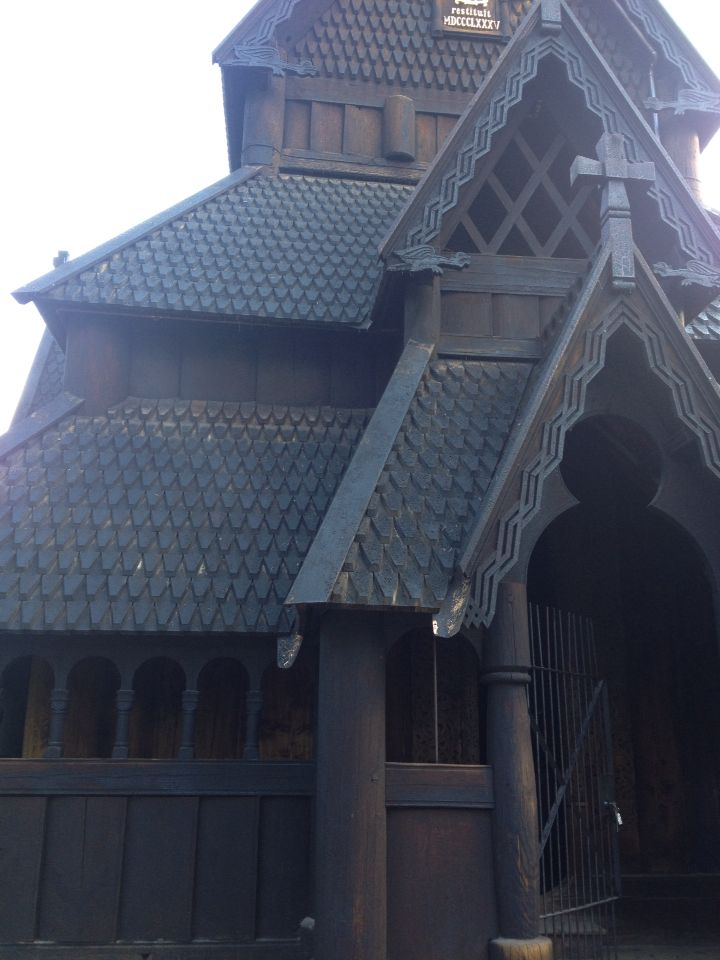 A Norwegian stave church. That is in the folk museum in Oslo Norway