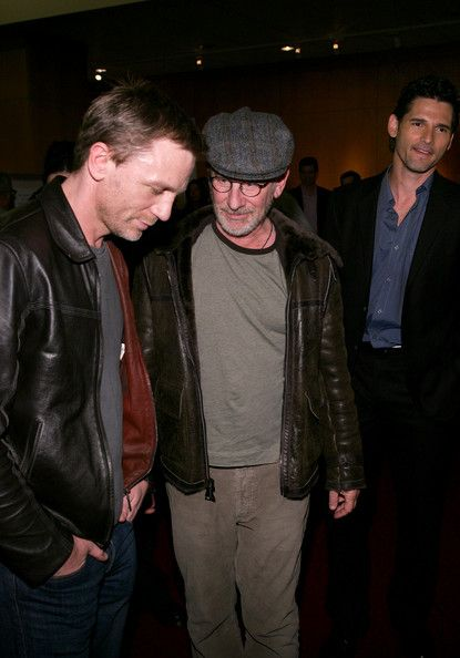 (L-R) Actor Daniel Craig, Director Steven Spielberg and actor Eric Bana attend Universal Pictures private screening of the film 'Munich' held at the Academy of Motion Picture Arts and Sciences on December 20, 2005 in Beverly Hills, California.