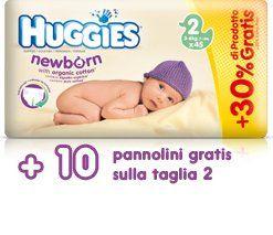 Huggies newborn tg 2 3-6kg pz 35+10 gratis di Huggies € 14,90