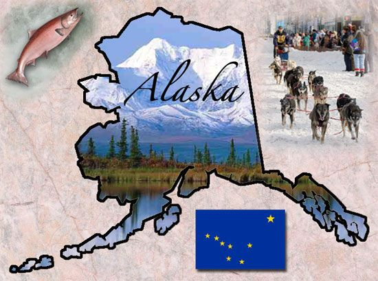 Alaska - Origin of Name: from the Aleut work Alyeska, meaning The Great Land.