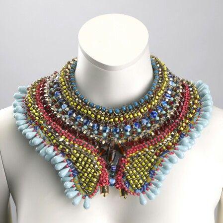 The bexley beaded collar by Anita Quansah London