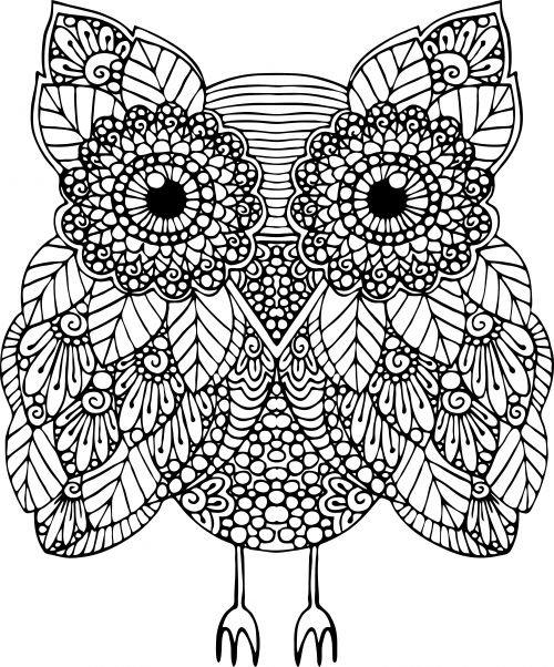 advanced animal coloring page 17