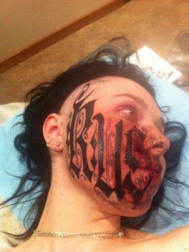 Russian-Girl-Tattoos-Boyfriends-Name-On-Face_13-374x500.jpg (374×500)