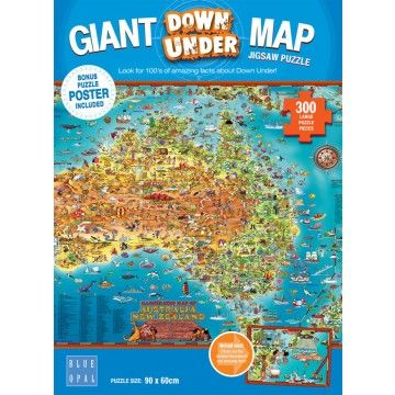Blue Opal Australia map puzzle