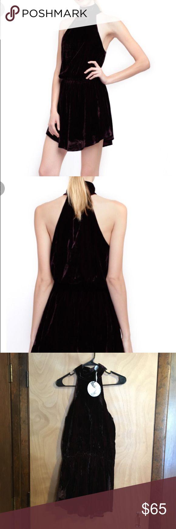 Line & Dot Velvet Dress NWT Gorgeous Line & Dot Velvet Dress Color Described as Garnet  Make an Offer! Line & Dot Dresses Mini