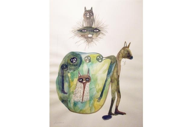 Erik Jerezano | The Souvenir |Encre et aquarelle sur papier (ink and watercolour on paper) |2008
