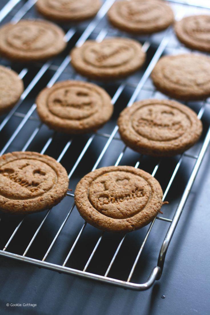 Recept voor volkoren tarwevrij koekjes met spelt en sinaasappel.