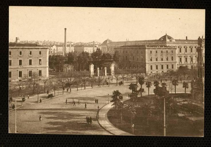 Plaza de Colón, Casa de la Moneda y Biblioteca Nacional