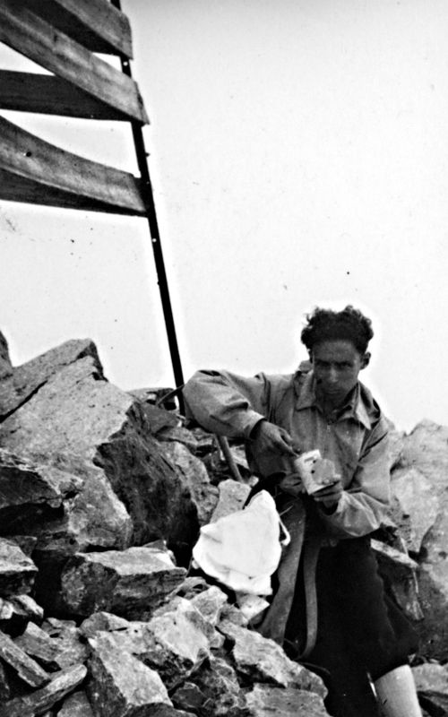 Primo Levi sul Monte Disgrazia, Valtellina, 15 agosto 1942 #PrimoLevi25 cc @Einaudieditore
