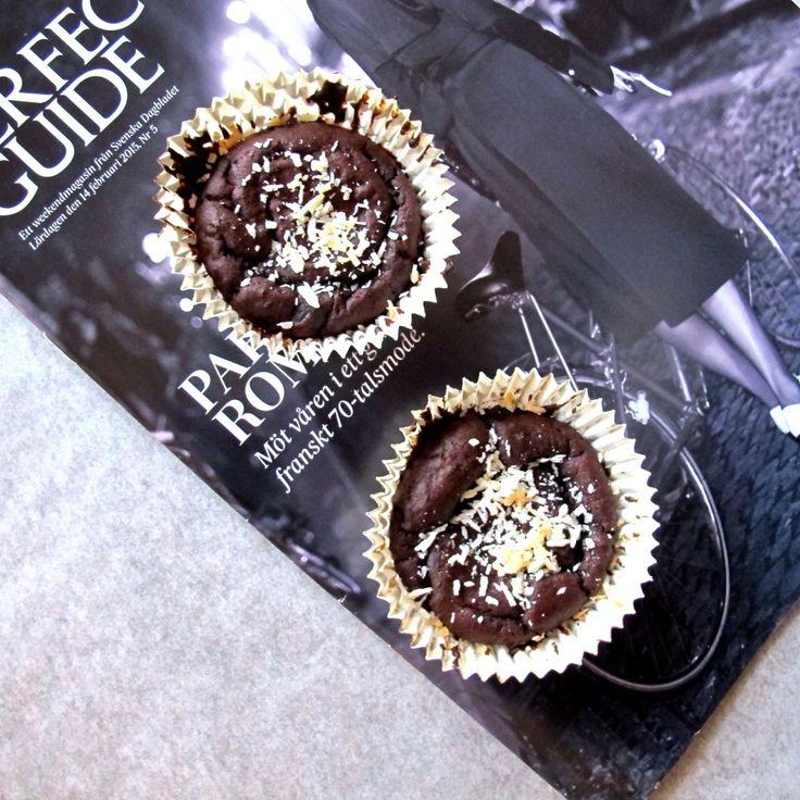 Nyttiga choklad muffins
