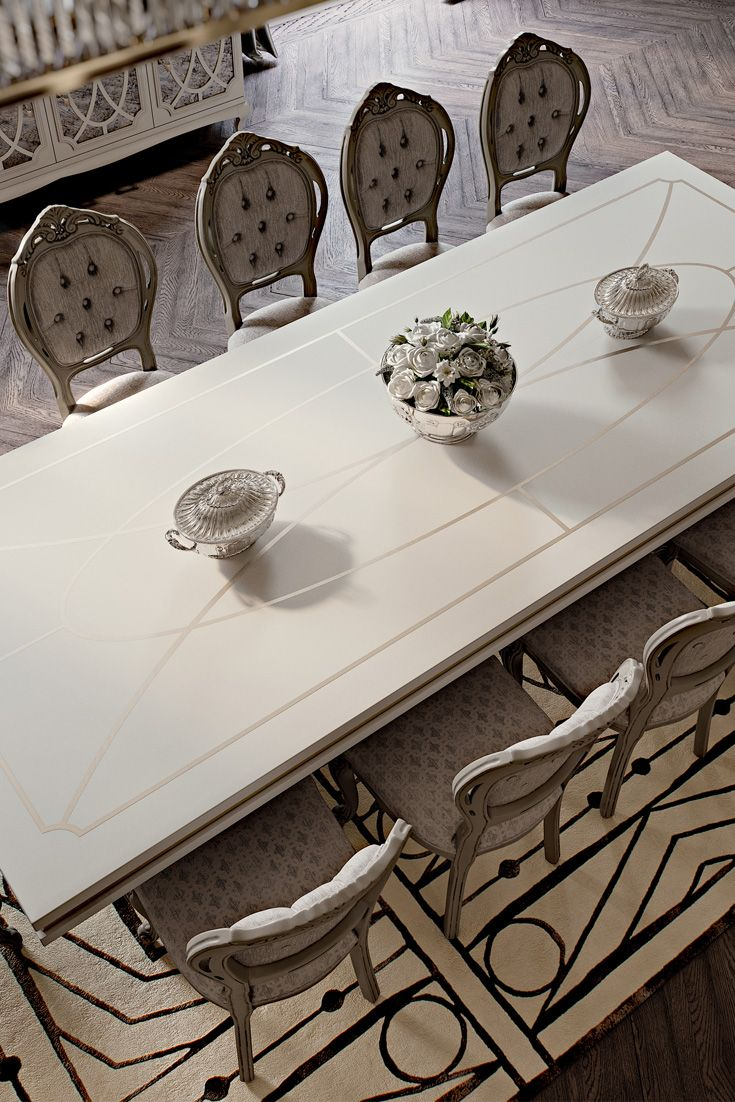 Italian Designer High End Dining Table And Chair Set With Images Table And Chair Sets Luxury Dining Tables