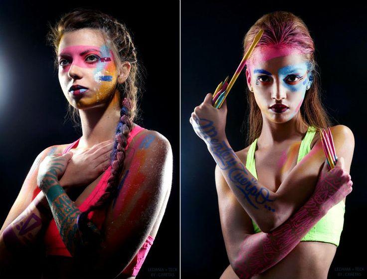 Maquillaje realizado por Caretas para la revista del Bodytech  con la colaboración de Ledania y Teck 24