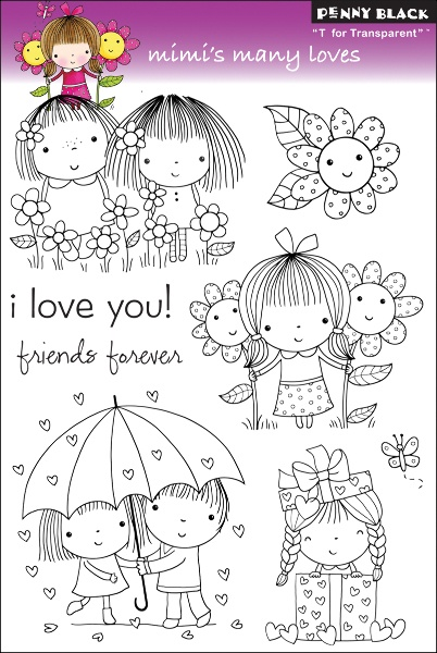PENNY BLACK-T for Transparent Clear Stamps. These clear stamps are easy to use with any acrylic block (not included); and feature high- quality and affordable value. This package contains one 7-1/2x5
