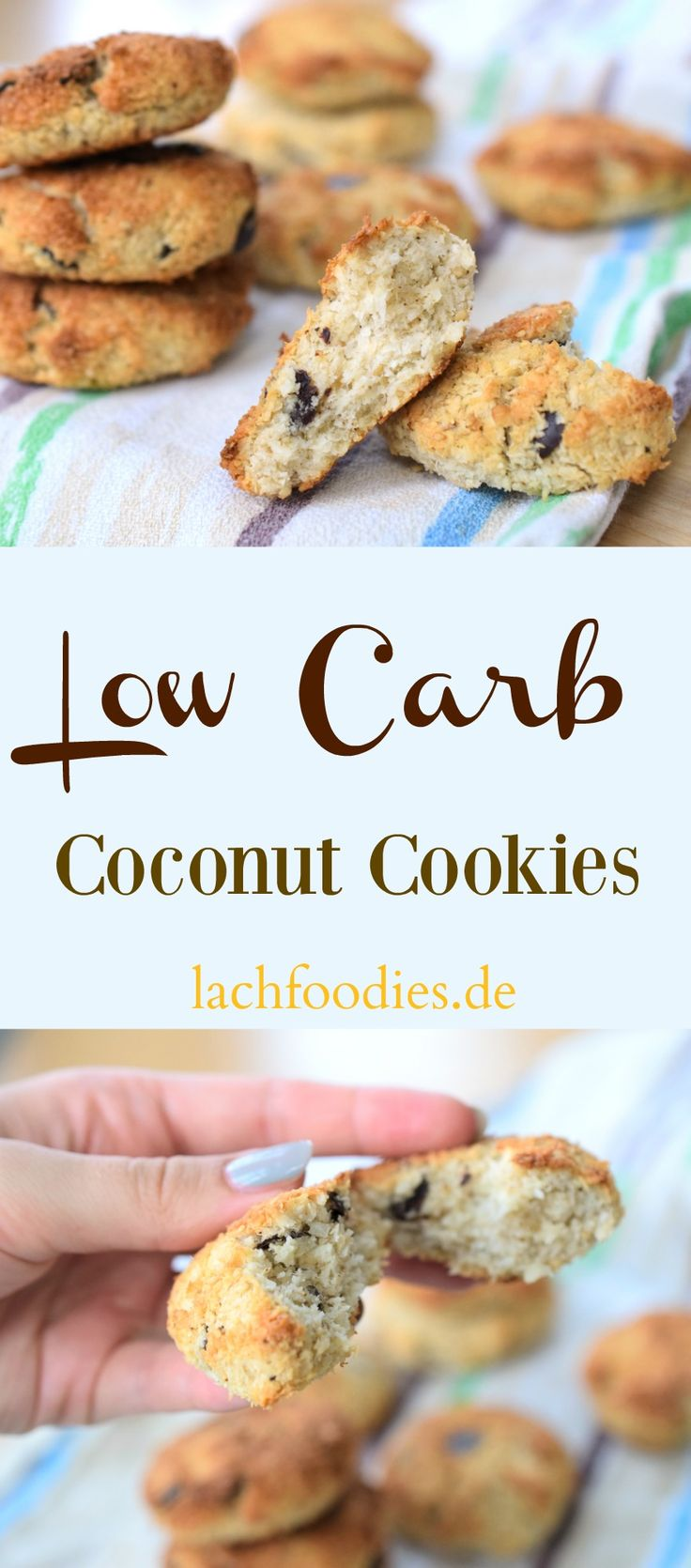 Low carb coconut cookies. Enjoy your sugarfree sweet treats. | Ein leckeres Low Carb Dessert für eine gesunde Ernährung.
