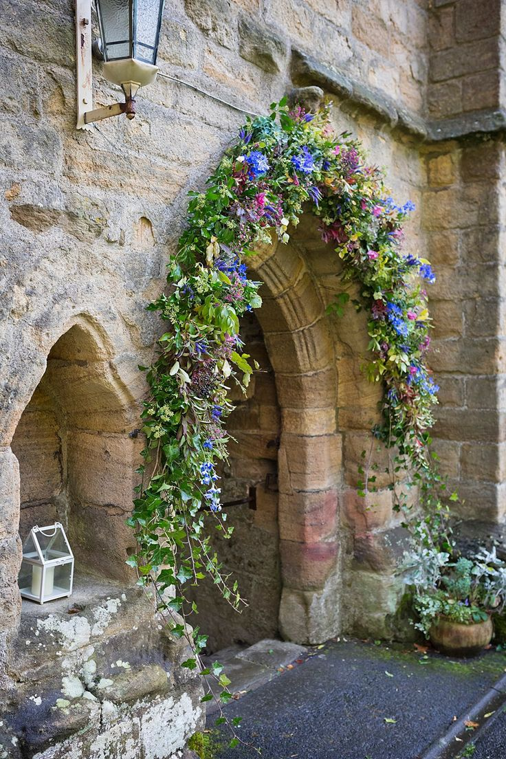 Floral Arch display | Photography by http://mark-tattersall.co.uk/
