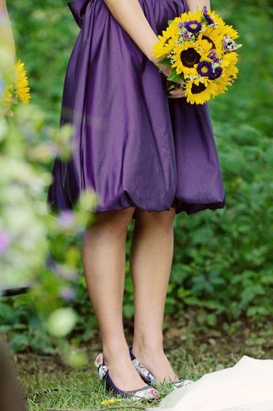 Deep purple and sunflowers <3