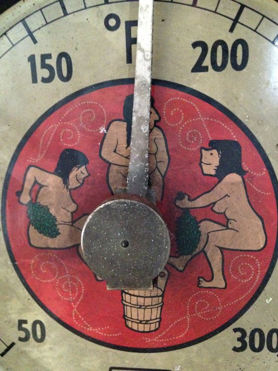 vintage Finnish sauna Thermometer  VAN original by whimzeesnest