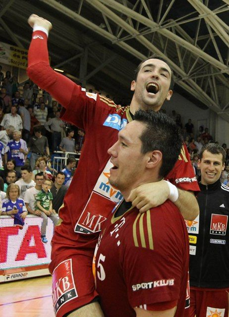 Ünneplés :D Celebration :D Hungarian Champions !!! :) MKB MVM Veszprém , Cristian Ugalde , Schuch Timuzsin