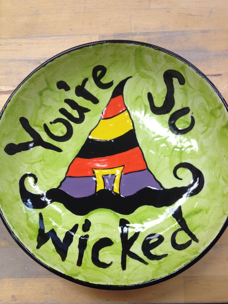 candy bowl wwwtimetoclaycom - Halloween Ceramic Plates